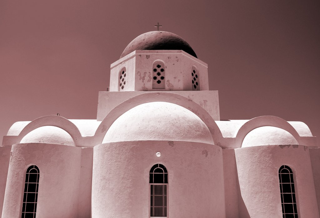 agia triada church Pyrgos Santorini