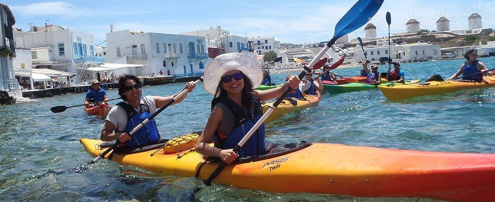 Kayak activities Mykonos
